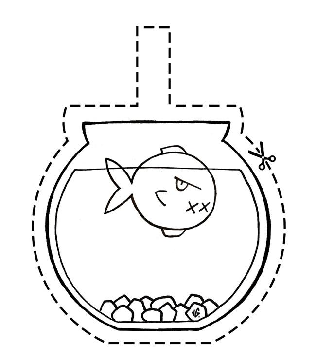 Aquarium zombie d 39 avril valgal graphiste for Bocal a poisson original